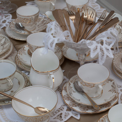 Vintage cups, saucers and side plates