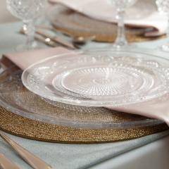 Vintage style glass dessert plates